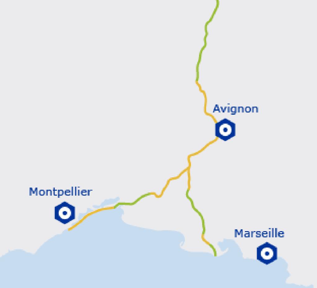 Carte de l'EuroVelo 17 - Provence Côte d'Azur | de Lapalud à Port St Louis du Rhône