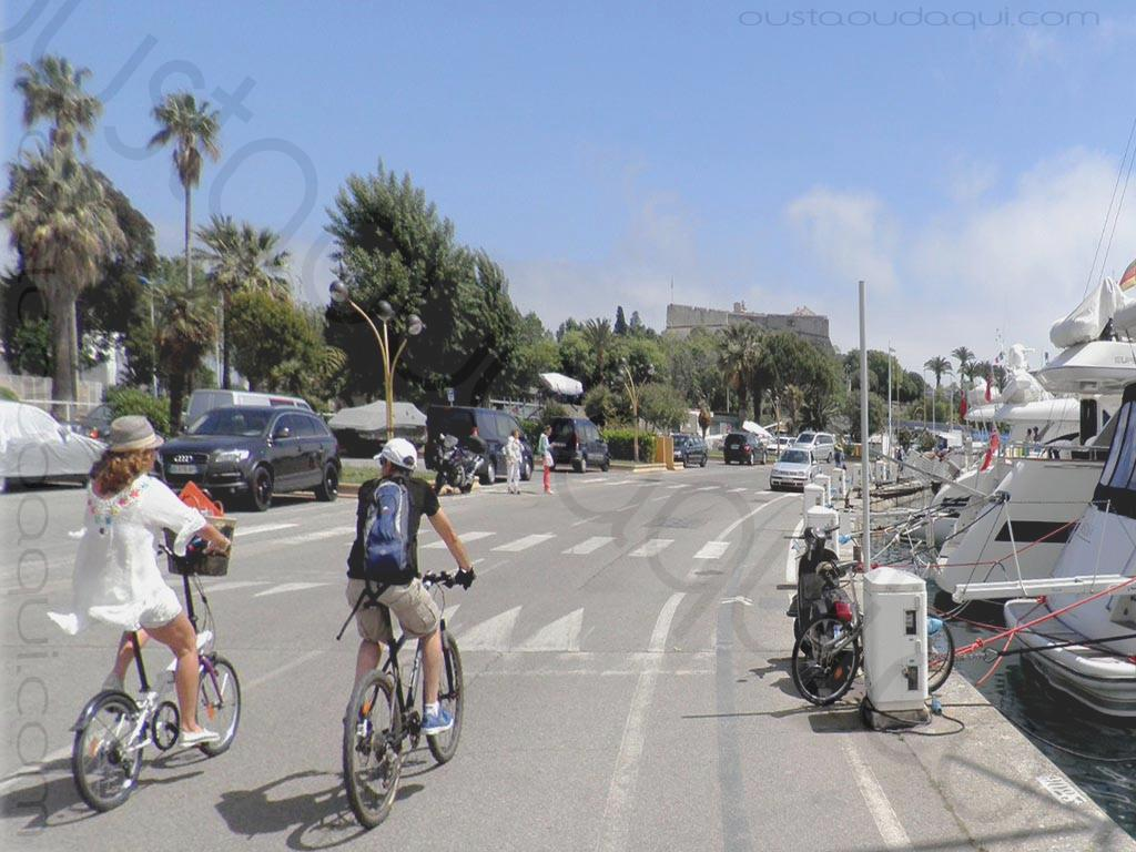 picture taken along the EuroVelo 8 near Antibes