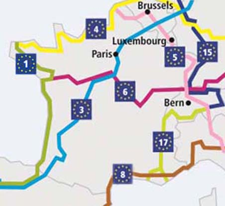 EuroVelo cycle routes in France