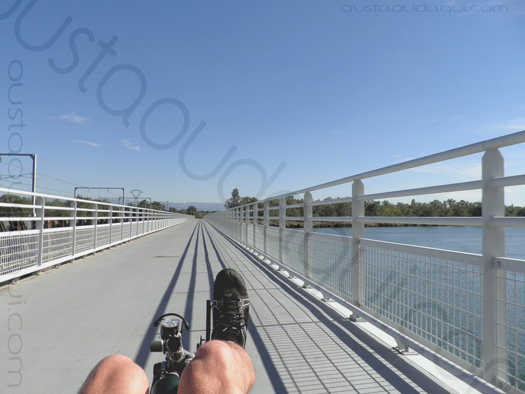 photographie prise le long de l'EuroVelo 17 près de Pont-de-l'Isère