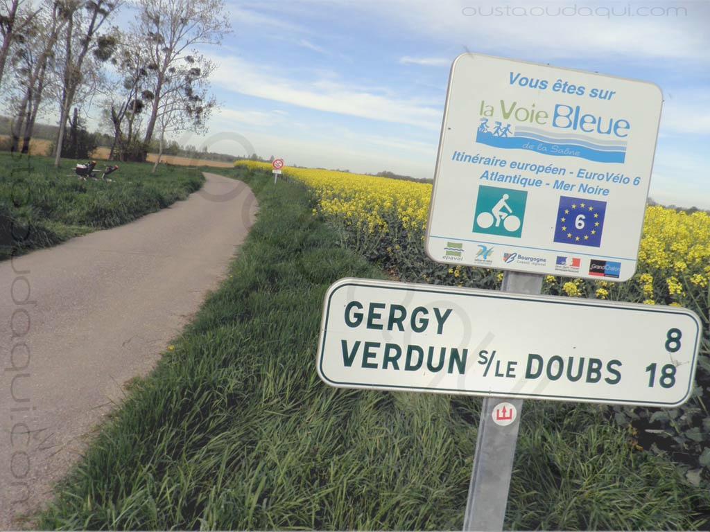 picture taken along the EuroVelo 6 near Crissey
