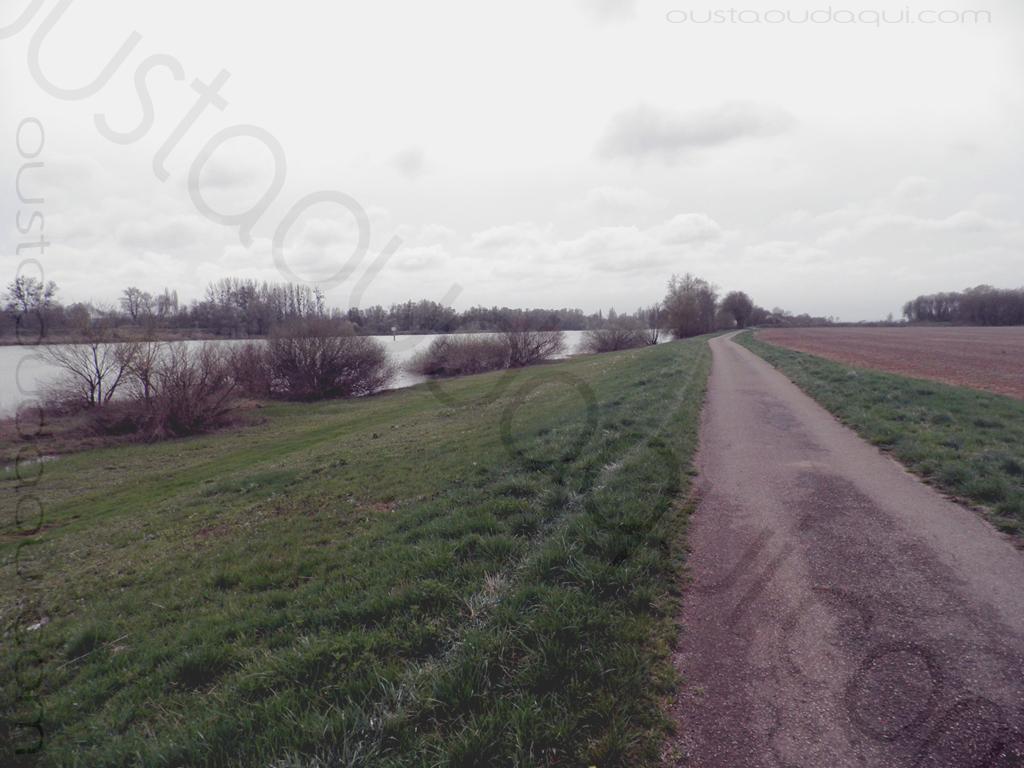 picture taken along the EuroVelo 6 near Sassenay