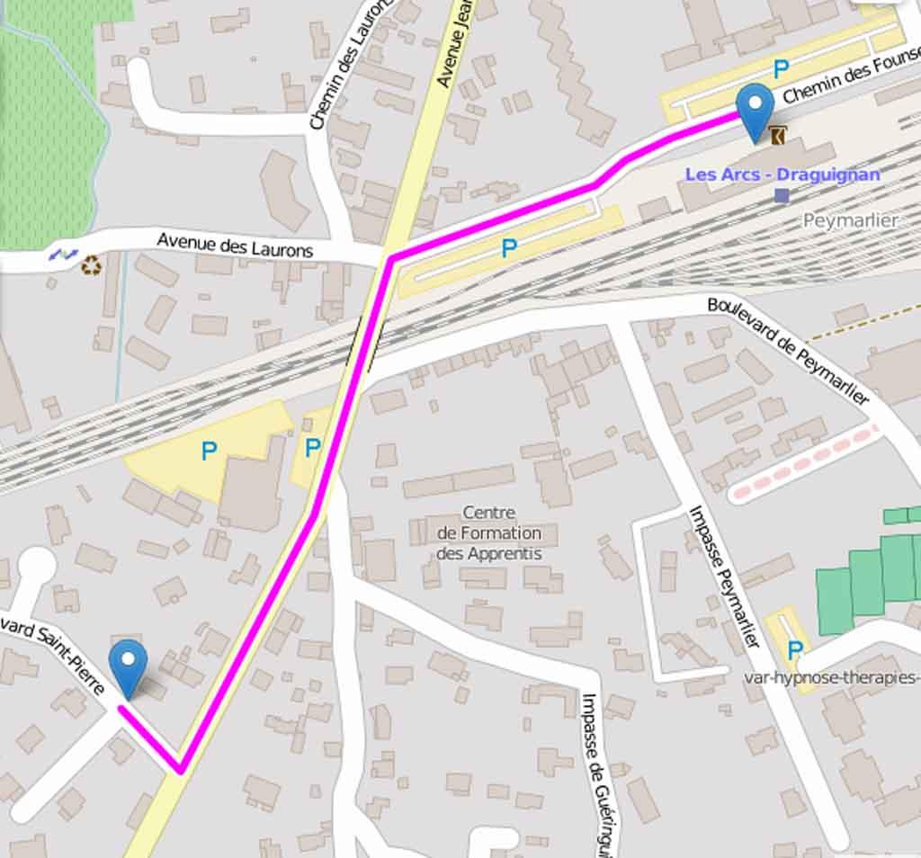 Les Arcs-SNCF - L'Oustaou d'Aqui - Distance: 500m